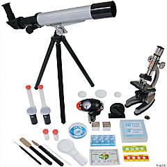 Microscope & Telescope Set With Survival Kit