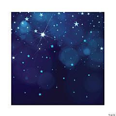 Midnight Blue Starry Night Backdrop