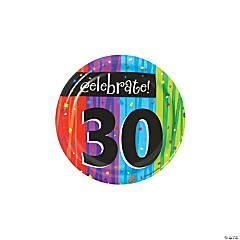 Milestone Celebration 30th Birthday Paper Dessert Plates - 8 Ct.