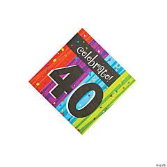 Milestone Celebration 40th Birthday Luncheon Napkins