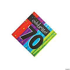 Milestone Celebration 70th Birthday Luncheon Napkins