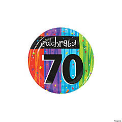 Milestone Celebration 70th Birthday Paper Dessert Plates