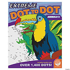 MindWare® Extreme Dot to Dot - Animals 2 Coloring Book