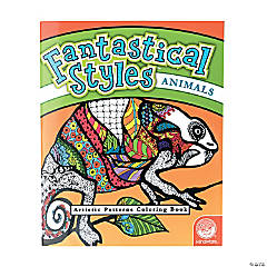 MindWare® Fantastical Styles: Animals Adult Coloring Book