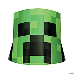 Minecraft<sup>®</sup> Creeper Party Hats - 8 Pc.