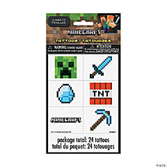 Minecraft<sup>®</sup> Temporary Tattoos