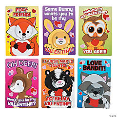 Mini Animal Face Buttons with Valentine's Day Cards