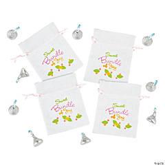 Mini Baby Shower Bundle of Joy Canvas Drawstring Treat Bags