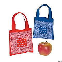 Mini Bandana Print Tote Bags