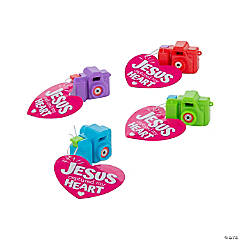 Mini Bible Verse Cameras with Valentine's Day Card