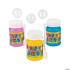 Mini Birthday Bubble Bottles