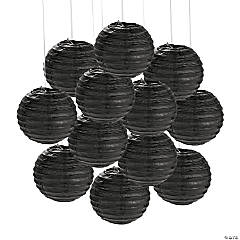 Mini Black Hanging Paper Lanterns