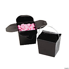 Mini Black Takeout Boxes