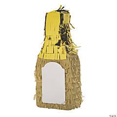 Mini Blank Champagne Piñata Decorations