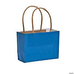 Mini Blue Kraft Paper Gift Bags