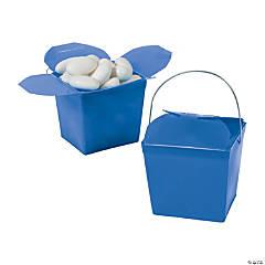 Mini Blue Takeout Boxes