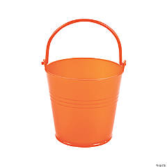 Mini Bright Orange Favor Pails