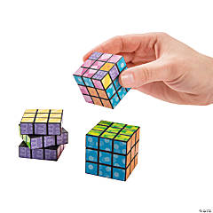 Mini Bright Printed Magic Cubes PDQ