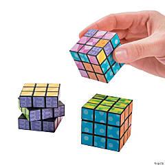 Mini Bright Printed Magic Cubes