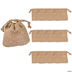 Mini Burlap Drawstring Bags