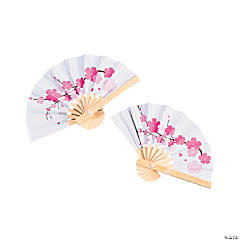 Mini Cherry Blossom Favor Fans