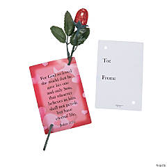 Mini Chocolate Roses with John 3:16 Card