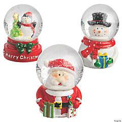 Mini Christmas Snow Globe Set