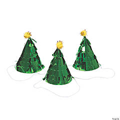 Mini Christmas Tree Cone Party Hats