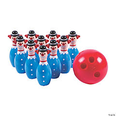 Mini Clown Bowling Set
