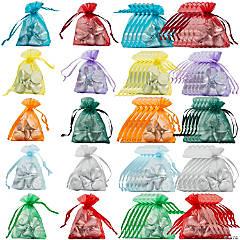 Mini Colorful Organza Drawstring Treat Bags