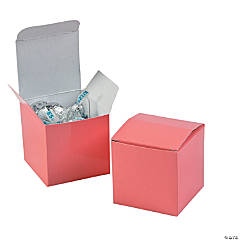 Mini Coral Favor Boxes