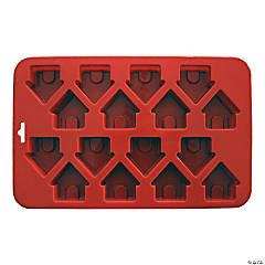 "Mini Dog House Silicone Cake Pan-9""X5.5"" 16 Cavity (1.5""X1.5"")"