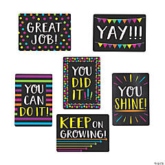 Mini Encouragement Cards - Black & Bright