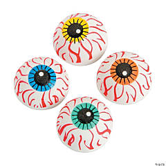 Mini Eyeball Erasers - 24 Pc.