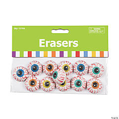 Mini Eyeball Erasers - 24 Pc.