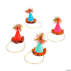 Mini Fiesta Floral Bright Cone Party Hats