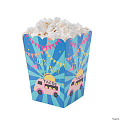 Mini Food Truck Party Popcorn Boxes
