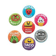 Mini Fun Food Buttons