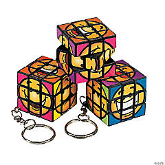 Mini Fun Puzzle Cube Keychains