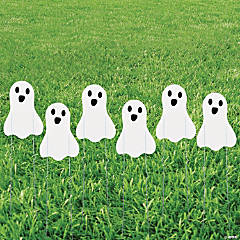 Mini Ghost Sidewalk Sign Halloween Decorations