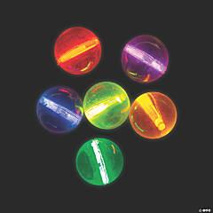 Mini Glow Stick Bouncy Balls