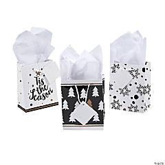 Mini Gold Christmas Gift Bags