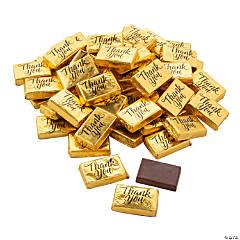Mini Gold Foil-Wrapped Thank You Chocolates