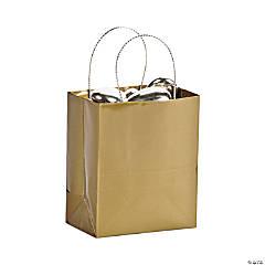 Mini Gold Gift Bags