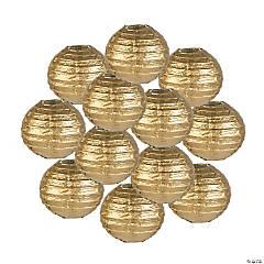 Mini Gold Hanging Paper Lanterns
