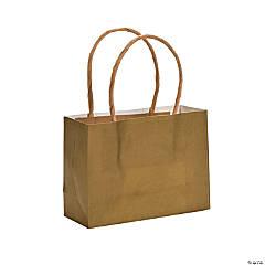 Mini Gold Kraft Paper Gift Bags