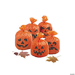 Mini Hanging Pumpkin Leaf Bag Halloween Decorations