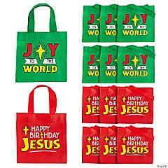 Mini Happy Birthday Jesus Tote Bags