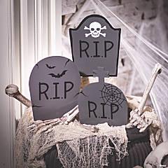 Mini Headstone Yard Stake Halloween Decorations