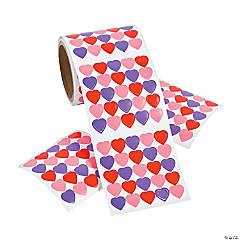 Mini Heart Big Roll Stickers PDQ